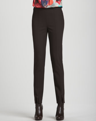 Scuba Bi-Stretch Pants, Mahogany