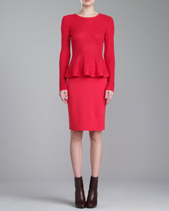 Milano Knit Pencil Skirt, Grenadine