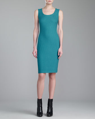 Box Knit Dress, Teal