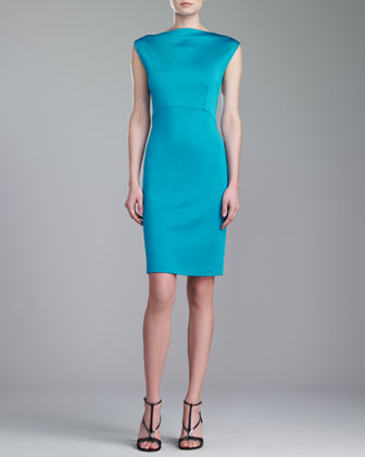 Sateen Milano Dress, Teal