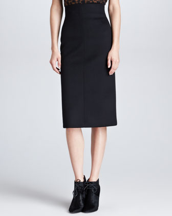 Neoprene Bonded Pencil Skirt