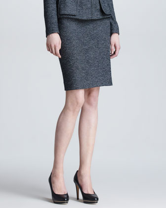 Herringbone Pencil Skirt