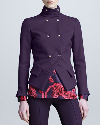 Asymmetric Double-Breasted Jacket