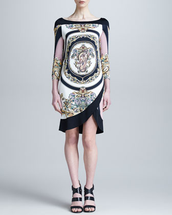 Medusa Printed Tulip-Hem Dress