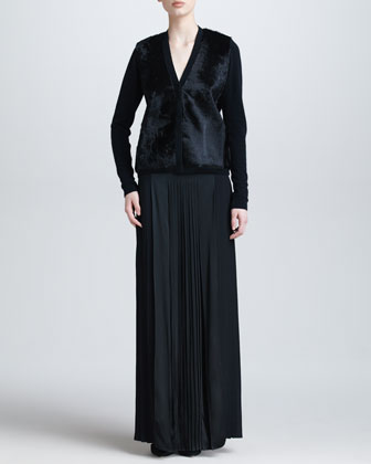 Floor-Length Pleated Skirt