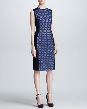 Geometric Panel Sheath Dress