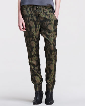Slouchy Dropped Camo Jacquard Pants