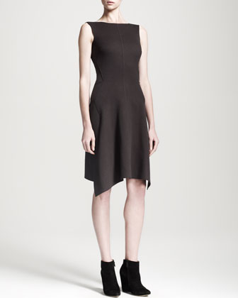 Picking Asymmetric-Hem Dress