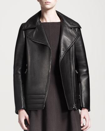 Peel Boxy Leather Jacket