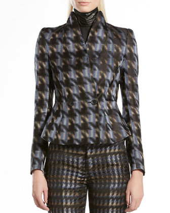 Silk Houndstooth Jacket