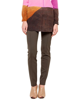 Barragan Doors Crepe Tunic and Double-Faced Slim Pants