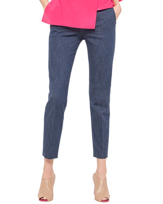 Slim Denim Ankle Pants