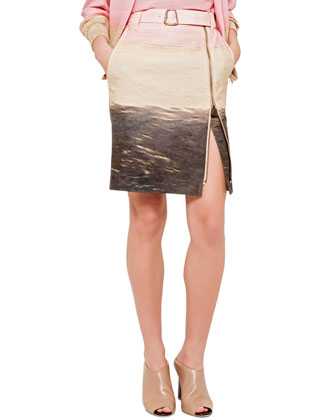 Stable San Cristobal Belted Zip Skirt