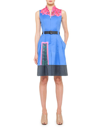 Casa Azul Pleated Dress