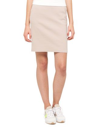 Techno Cotton Straight Skirt