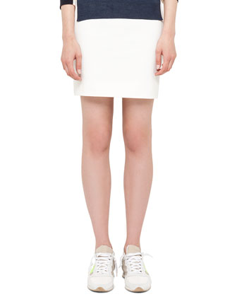 Techno-Cotton Short Skirt