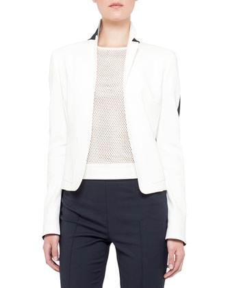 Two-tone jacket, techno-cott