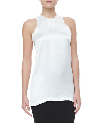 Raw-Edged Racerback Tank