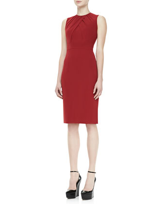 Sleeveless Sheath Dress, Red