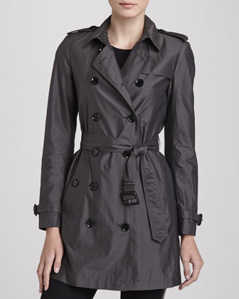Lightweight Mulberry Silk Trenchcoat