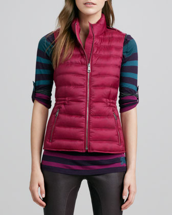 Zip-Pocket Puffer Vest