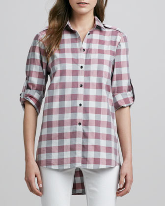 Buffalo-Check Tab-Sleeve Shirt