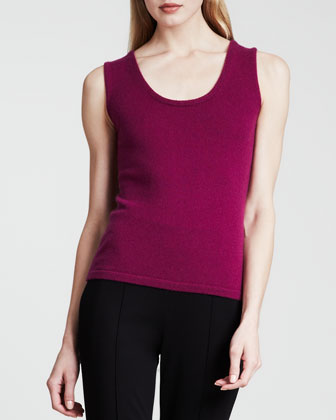 Cashmere Knit Tank, Purple
