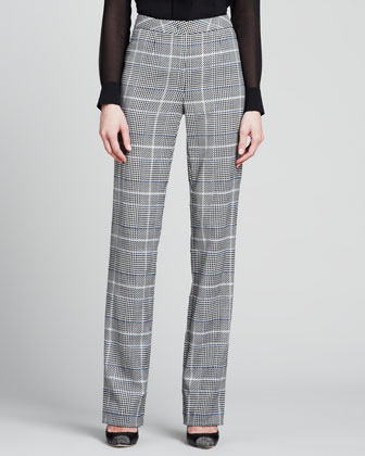 Glen Plaid Classic Pants, Black