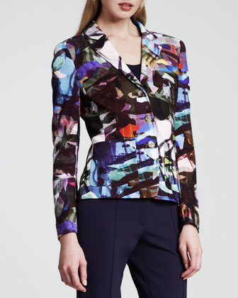 Stained-Glass-Print Jacket, Multicolor
