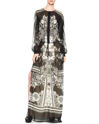 Printed Maxi Caftan Dress