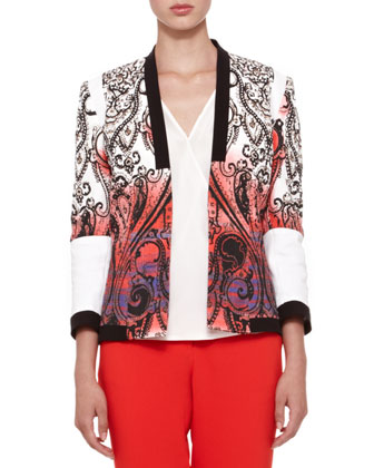 Open-Front Paisley Jacket