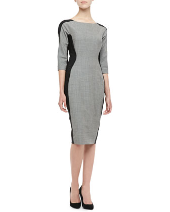Long-Sleeve Side-Panel Dress