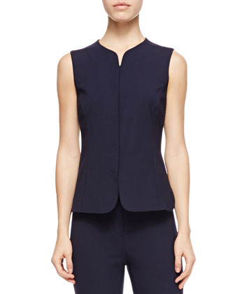 One-Button Stretch Suiting Jacket, Short Gilet Vest & Stretch Suiting ...