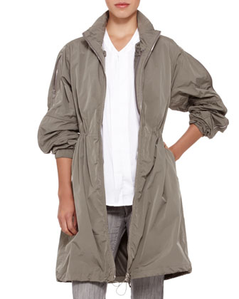 Long Trenchcoat with Detachable Vest, Cedar