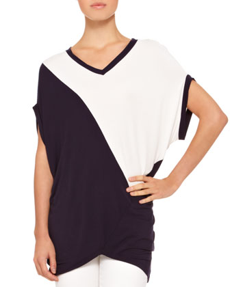 Featherweight Jersey Two-Tone Tunic & Slim Jeans