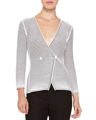 Deep-V Striped Jacket