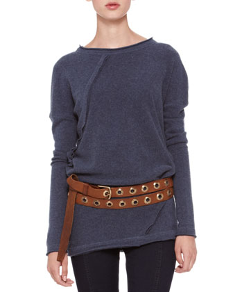 Long-Sleeve Fold Top