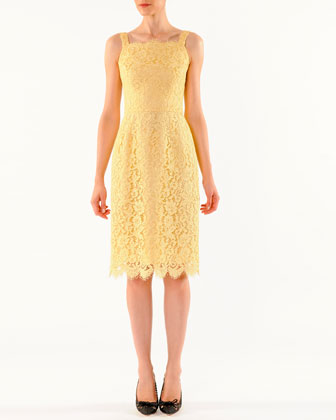 Cordonetto Lace Tank Dress