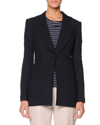 Single-Button Chevron Jacket