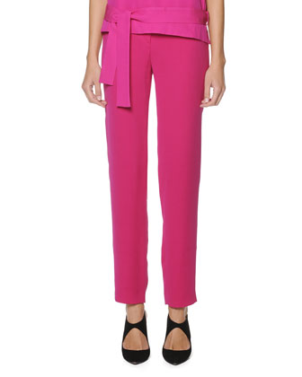 Slim Cady Crepe Pants