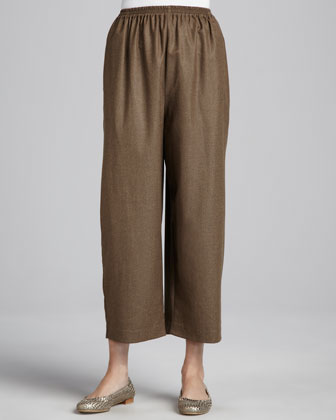 Japanese Flannel Trousers, Military Brown