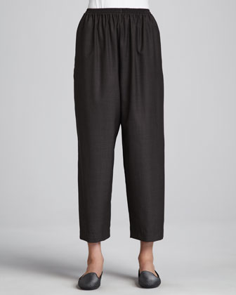 Japanese Wool-Silk Trousers, Brown