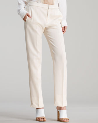 Straight-Leg Trousers, Sail White