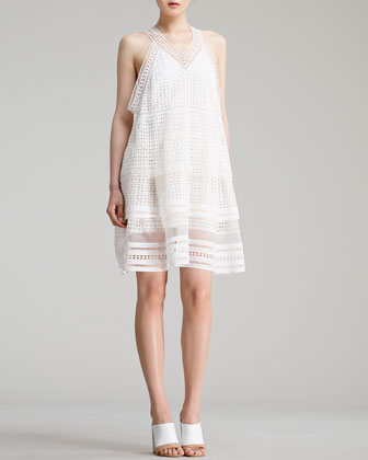 Diamond-Lace Dress, Milk