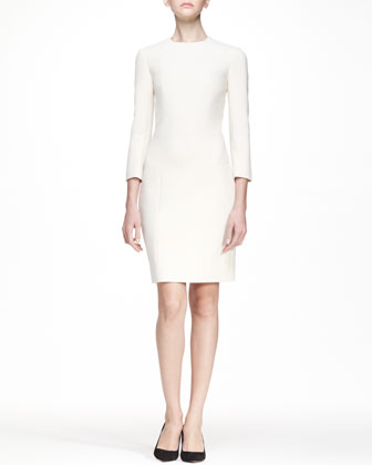 3/4-Sleeve Stretch Scuba Dress