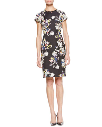 Marta Short-Sleeve Floral Dress