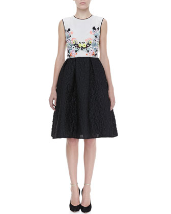 Faris Full Floral-Top Dress