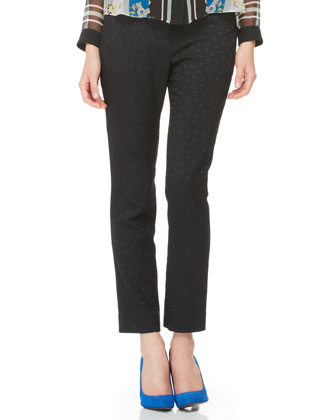 Sidney Dotted Slim Trousers