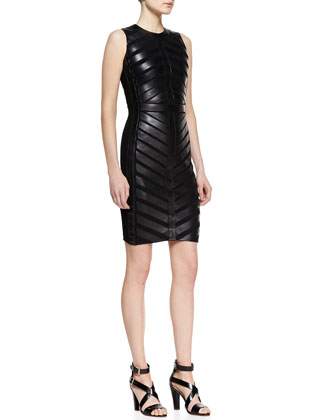 Sylviane Sleeveless Lambskin Dress