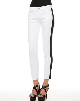 400 Side-Stripe Cropped Jeans